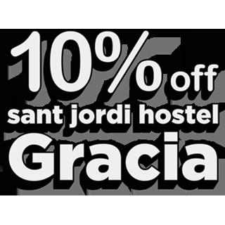 10% off Sant Jordi Hostel Gracia
